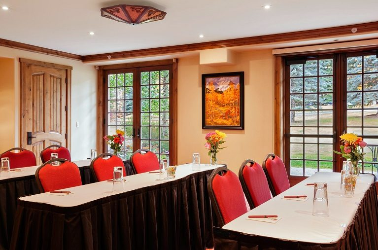 Tivoli lodge conference room setup classroom stye