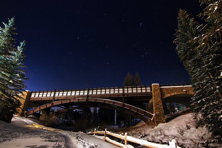 starry night in Vail